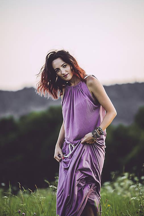 Šaty - letné lila - 8410756_