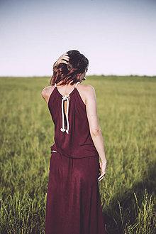 Šaty - letné burgundy - 8410592_