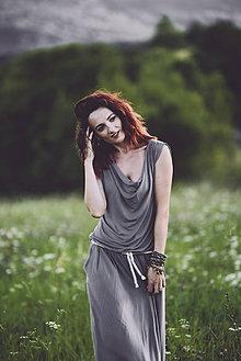 Šaty - letné šedé - 8410711_