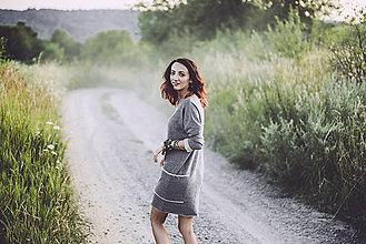 Šaty - jesenné šedé - 8410845  80034bf4756