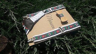 Detské doplnky - Detský set - drevený motýlik a traky - 8410266_