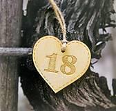 Darčeky pre svadobčanov - Srdiečka s číslom - 8410460_