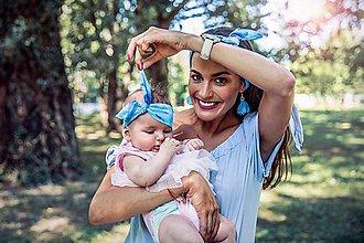 Šatky - ZĽAVA 30 % Šatka do vlasov pre mamičku a dcérku - 8410770_