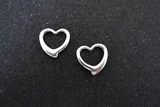 Komponenty - Srdiečko -stainless steel- - 8412210_
