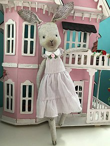Hračky - Zajačička levanduľová - 8409812_