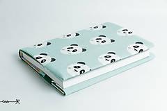 Papiernictvo - Obal na knihu otvárací - pandy - 8409590_