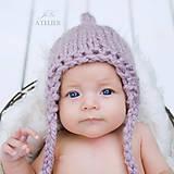 Detské čiapky - Pixie čiapka nielen na fotenie LILA - 8415451_