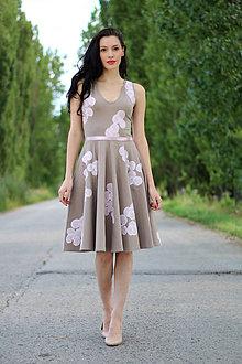 Šaty - Hnedo ružové ZĽAVA !!! - 8414124_