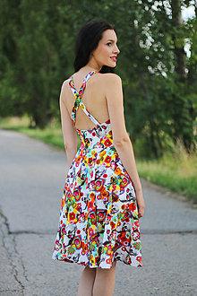Šaty - Farebné s výstrihom - 8414201_