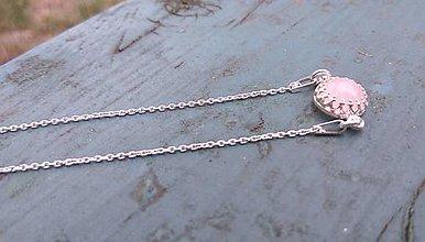 Náramky - Simple Rose Quartz Silver Bracelet Ag 925 / Jemný strieborný náramok s ruženínom - 8415507_