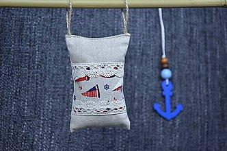 Dekorácie - Dekoračný námornický vankúšik III. - 8416035_