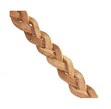 Galantéria - Kožený pletený remienok, natural 5,5mm/0,2m - 8412878_