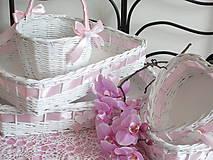 - Košíky - Svadobná súprava jemne ružová (SRDIEČKO) - 8415734_