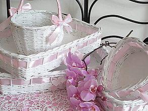 Košíky - Svadobná súprava jemne ružová - 8415734_