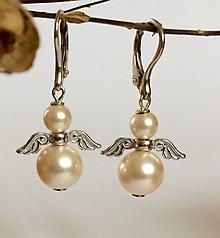 Náušnice - perlové náušnice Anjel - 8415539_
