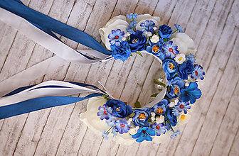 Ozdoby do vlasov - Svadobná kvetinová parta - 8414181_