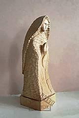 Socha - Modliaca sa..  - drevená soška - 8413025_