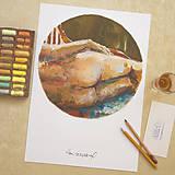 Kresby - Renoirov model - 8414339_