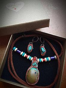 Sady šperkov - set Tyrkys + Koral - 8412938_