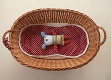 Textil - Univerzálna podložka RUNINKO 3 v 1 do kočíka/ do vaničky/ do autosedačky 100% MERINO TOP Bodka bordová - 8413283_