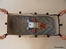 Textil - Univerzálna podložka RUNINKO 3 v 1 do kočíka/ do vaničky/ do autosedačky 100% MERINO TOP Bodka bordová - 8413393_