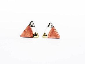 Náušnice - nežná geometria - 8414274_