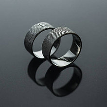 Prstene - Obrúčky s odtlačkami prstov - 8413889_