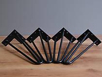 Nábytok - Hairpin nohy trojvlas - 300mm čierne - 8413479_