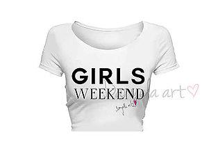 Tričká - GIRLS WEEKEND t-shirt - 8415282_