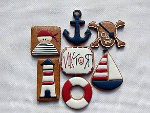 Dekorácie - Medovníkový set pirát - 8412992_