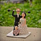 Fitness figúrky na svadobnú tortu