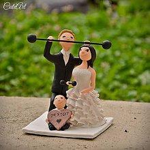 Dekorácie - Fitness figúrky na svadobnú tortu - 8413511_