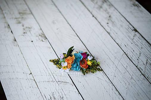 """výpredaj z 27 eur Kvetinový hrebienok """"namaľuj mi dúhu"""" - väčší"""