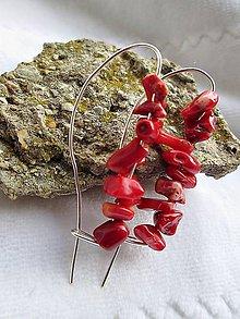 Náušnice - koral - 8412722_