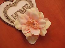 Ozdoby do vlasov - Marhuľkový kvet 8cm - sponka - 8415888_