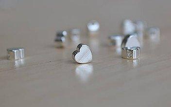 Korálky - Korálka srdce, 0.25€/ks - 8414563_