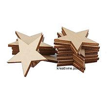 Polotovary - Drevená hviezdička 4 cm, ihneď - 8414921_