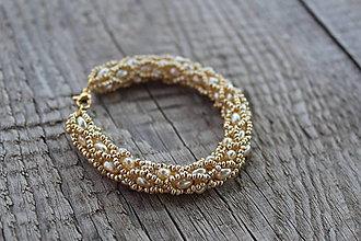 Náramky - náramok zlatý nugetkový - 8418635_