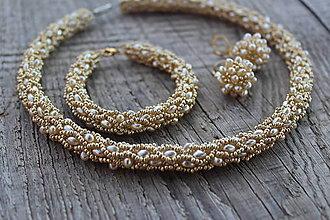 """Sady šperkov - súprava zlatá - """"nugetky"""" - 8418747_"""