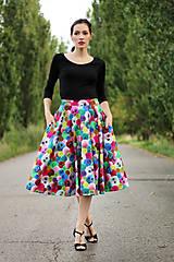 Sukne - Midi sukňa Bambulka  - 8418505_