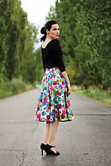 Sukne - Midi sukňa Bambulka  - 8418509_