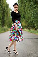 Sukne - Midi sukňa Bambulka  - 8418510_