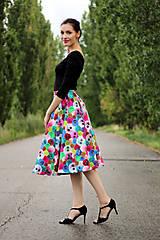 Sukne - Midi sukňa Bambulka  - 8418523_