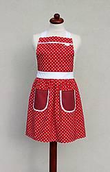 Detské oblečenie - detská zásterka Lucinka červená - 8417037_