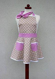 Detské oblečenie - detská zásterka Bordeaux - 8417061_