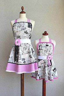 Iné oblečenie - zástery pre mamu a dcéru Parížanka - 8417564_