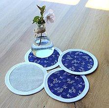 Úžitkový textil - podložky pod pohár Čarovná modrotlač (set 4ks) - 8417941_