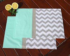 Úžitkový textil - prestieranie Cik-cak mint - 8417975_