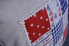 Úžitkový textil - Námornický vankúš s perličkami III. - 8417842_