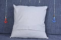 Úžitkový textil - Námornický vankúš s perličkami III. - 8417843_